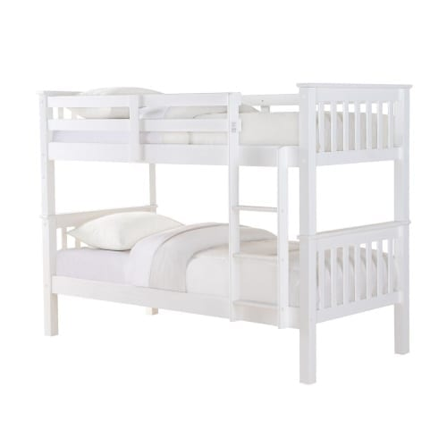 casper wooden bunk bed in white